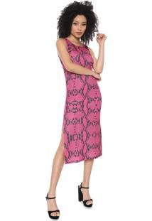 Vestido My Favorite Thing(S) Midi Cobra Rosa - Kanui