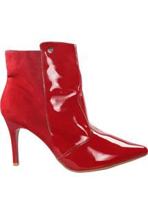 Bota Firezzi Ankle Boot Feminina Vermelho - 37