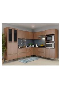Cozinha Completa Multimóveis Com 8 Peças Calábria 5461 Nogueira
