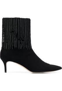 Christopher Kane Ankle Boot Bordada - 1000 Black