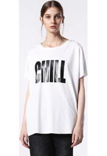 Camiseta Diesel T-Hanna-Bb Feminina - Feminino-Branco