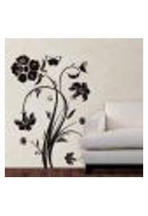 Adesivo De Parede Floral Modelo 01 - G 104X75Cm