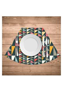 Jogo Americano Para Mesa Redonda Wevans Geometric Colors Kit Com 4 Pçs