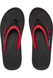 Chinelo Dc Shoes Recoil Red - Masculino-Preto