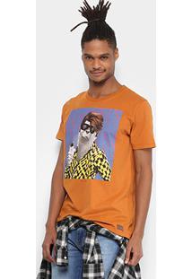 Camiseta Colcci Foca Masculina - Masculino-Laranja