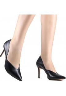 Sapato Schutz Scarpin Bico Fino Couro