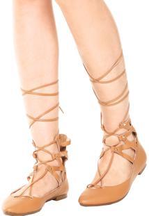 Sapatilha Dafiti Shoes Recortes Caramelo