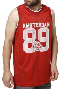 ... Camiseta Regata Masculina Vermelho a4641344c1a