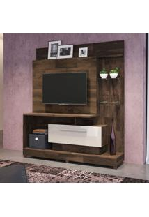 Estante Para Home Theater E Tv Até 42 Polegadas Colt Marrom Deck E Off White