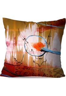 Capa De Almofada Avulsa Decorativa Abstrato 45X45Cm - Multicolorido - Dafiti