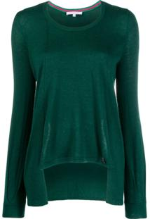 Patrizia Pepe Asymmetric Relaxed-Fit Pullover - Verde