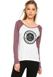 Camiseta Roxy Mountains Branca/Vinho
