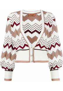 Missoni Cardigan Chevron - Branco