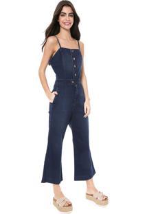 Macacão Jeans Oh, Boy! Pantacourt Azul