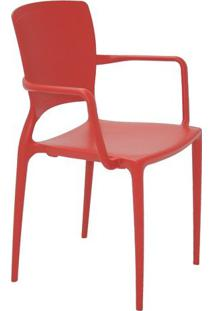 Cadeira Sofia- Vermelha- 84,5X58,5X51Cm- Tramonttramontina