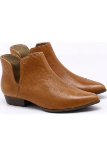 Ankle Boot Couro Anis