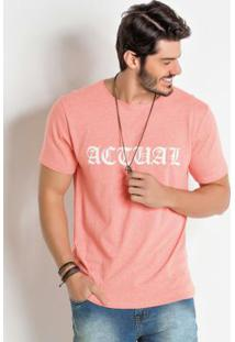 Camiseta Com Estampa Actual Coral