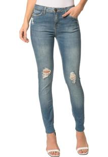 Calça Jeans Five Pocktes Super Skinny Ckj 001 Super Skinny - Azul Claro - 40