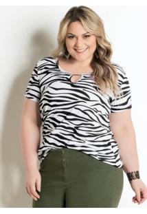 T-Shirt Animal Print Plus Size Marguerite