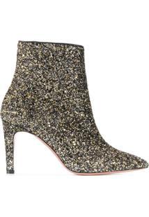 P.A.R.O.S.H. Ankle Boot Com Glitter - Preto