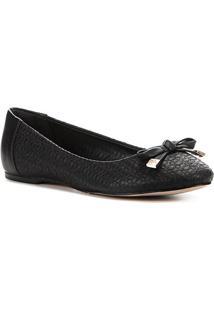 Sapatilha Shoestock Couro Crazy For - Feminino-Preto