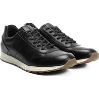 1a1c56b40 Tênis Couro Shoestock Jogging Perfuros Masculino - Masculino-Preto