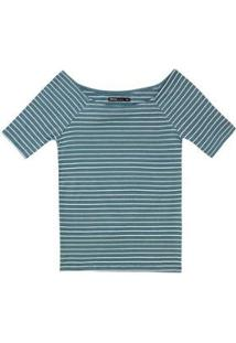 Blusa Básica Em Malha De Algodão Com Decote Canoa - 4Ecj1Ren4 Hering Feminina - Feminino
