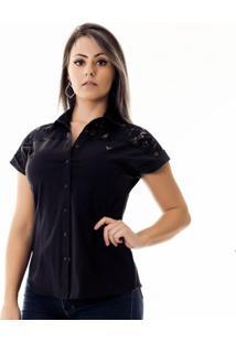 Camisa Pimenta Rosada Da Bianca - Feminino-Preto