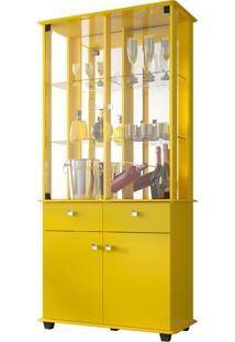 Cristaleira Verona Amarelo Móveis Bechara