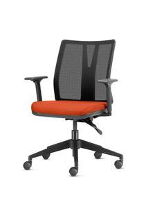 Cadeira Addit Assento Crepe Coral Com Base Piramidal Em Nylon - 54109 Coral