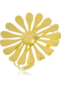 Bracelete Le Diamond Flor Folheada A Ouro 18K
