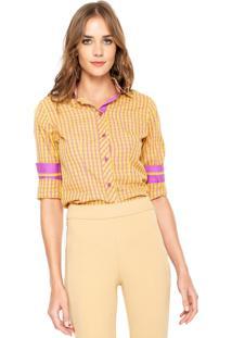 Camisa Elô Xadrez Amarela