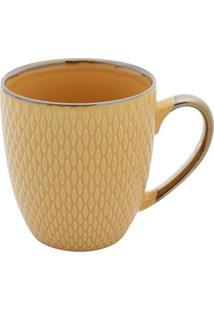 Caneca De Porcelana 400Ml - Bon Gourmet - Amarelo