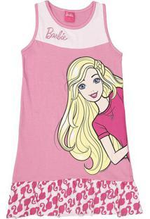 Camisola De Barbie® Com Recortes- Rosa Claroevanilda