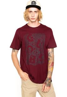Camiseta Globe Nest Of Snakes Vinho