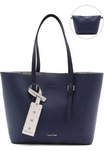 Bolsa Calvin Klein Fivela Azul-Marinho