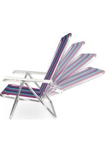 Cadeira Reclinável Alumínio 4 Posições 2232
