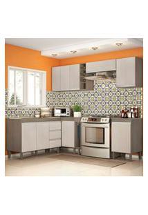 Cozinha Modulada Karen 8 Módulos 7800 Malbec/Avelá - Mpdecor