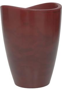 Vaso Em Polietileno Alto Copacabana 40X54Cm Antique Vermelho