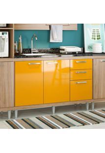 Balcão De 120Cm Argila Fosco Texturizado Lacca Ad Amarelo Gema