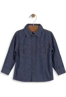 Camisa Jeans- Azul Escuroup Baby - Up Kids