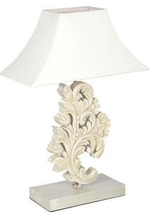 Luminária De Mesa Floral Cinza - Lado B