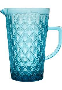 Jarra De Vidro 1.1L Azul Diamond Bon Gourmet