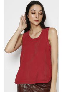 Blusa Lisa Com Recortes- Vermelhala Chocolãª