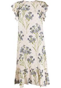 Redvalentino Vestido Com Estampa Floral - Neutro