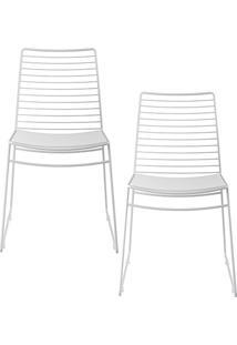 Kit Com 2 Cadeiras Nicole Branco - Carraro