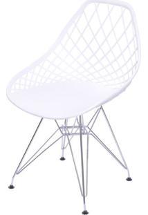 Cadeira Boom Polipropileno Branco Com Base Cromada - 55933 - Sun House