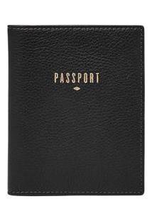 Carteira Fossil Feminina Passport Preta Sl7431001/1