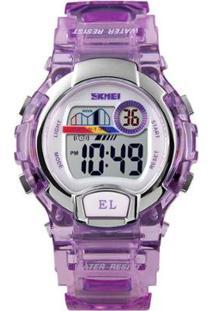 Relógio Infantil Skmei Digital Feminino - Feminino-Roxo
