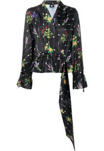 Kappa Kontroll Blusa Com Estampa Floral E Logo - Preto